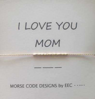 I Love You Mom Morse Code Bracelet In Sterling Silver Or 14k Gold Filled Love You Mom Morse Code Necklace I Love You Mom