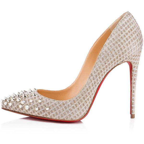 0d64af95e3c2 SPIKYSHELL QUADRO LUREX 100 Nude White Gold Fabric - Women Shoes ...
