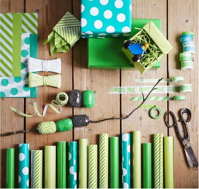 Ikea S New Papershop Ikea Gifts Ikea New Green Wrapping Paper