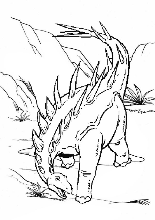 Free Online Printable Kids Colouring Pages - Andy The Ankylosaurus ...