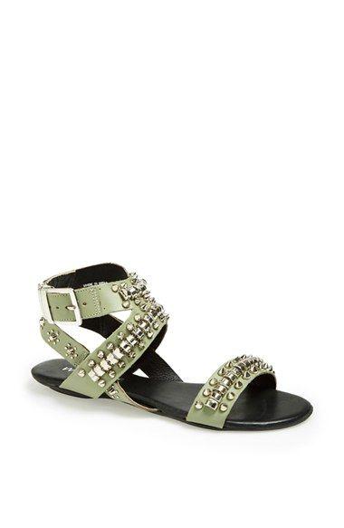 Matisse 'Elevate' Studded Flat Leather Sandal | Nordstrom