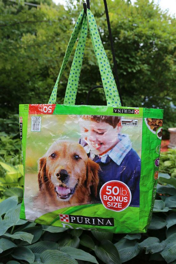 Great Reusable Shopping Bag From An Empty Dog Food Bag Great Gift