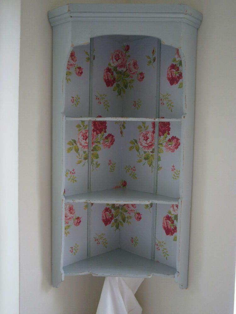 Vintage Corner Shelf Display Unit Cath Kidston Wallpaper