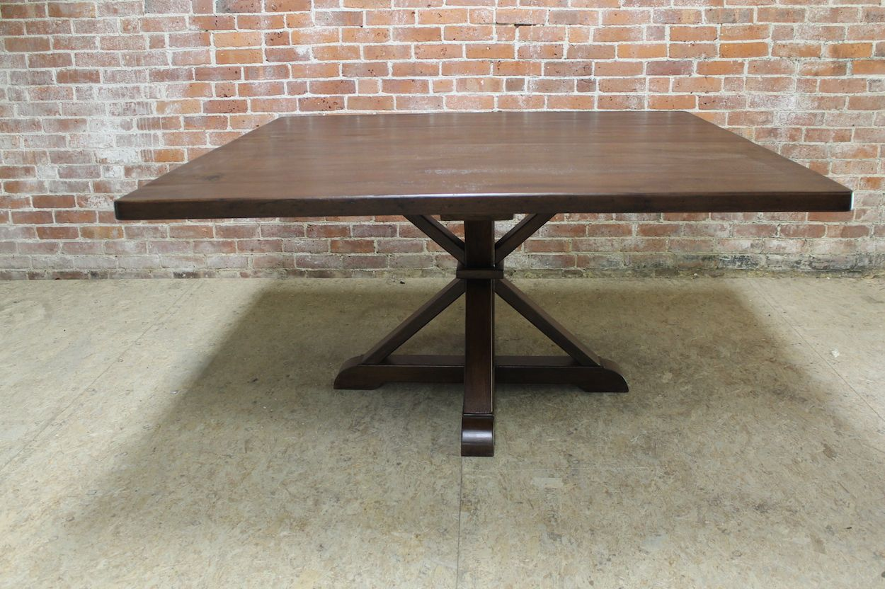 Large Square Table Pedestal Base Style