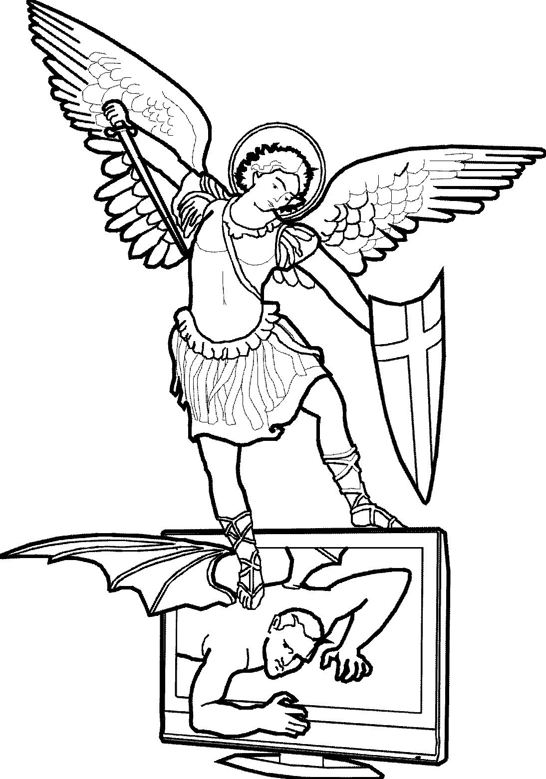 St Michael Printable Perfect For Coloring Coloring Pages Designs Coloring Books Printable Coloring Pages