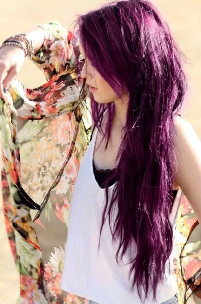 Plum hair color