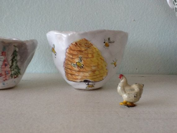 Beehive small cup by JulieWhitmorePottery on Etsy