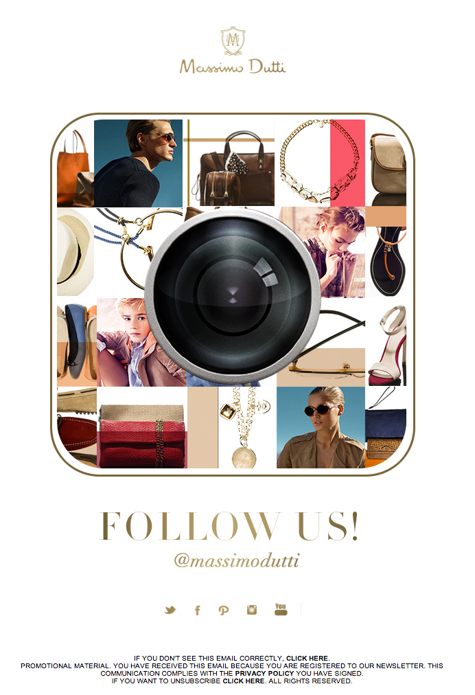 Massimo dutti newsletter instagram follow us for Follow us on instagram template