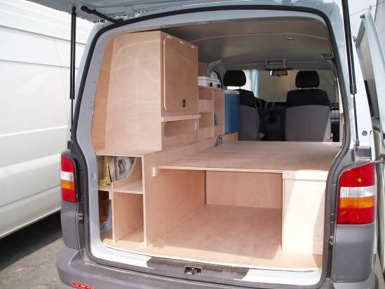 Camping car sur mesure vw crafter amenagement t5 pinterest camping car fourgon et caravane - Plan amenagement transporter t4 ...