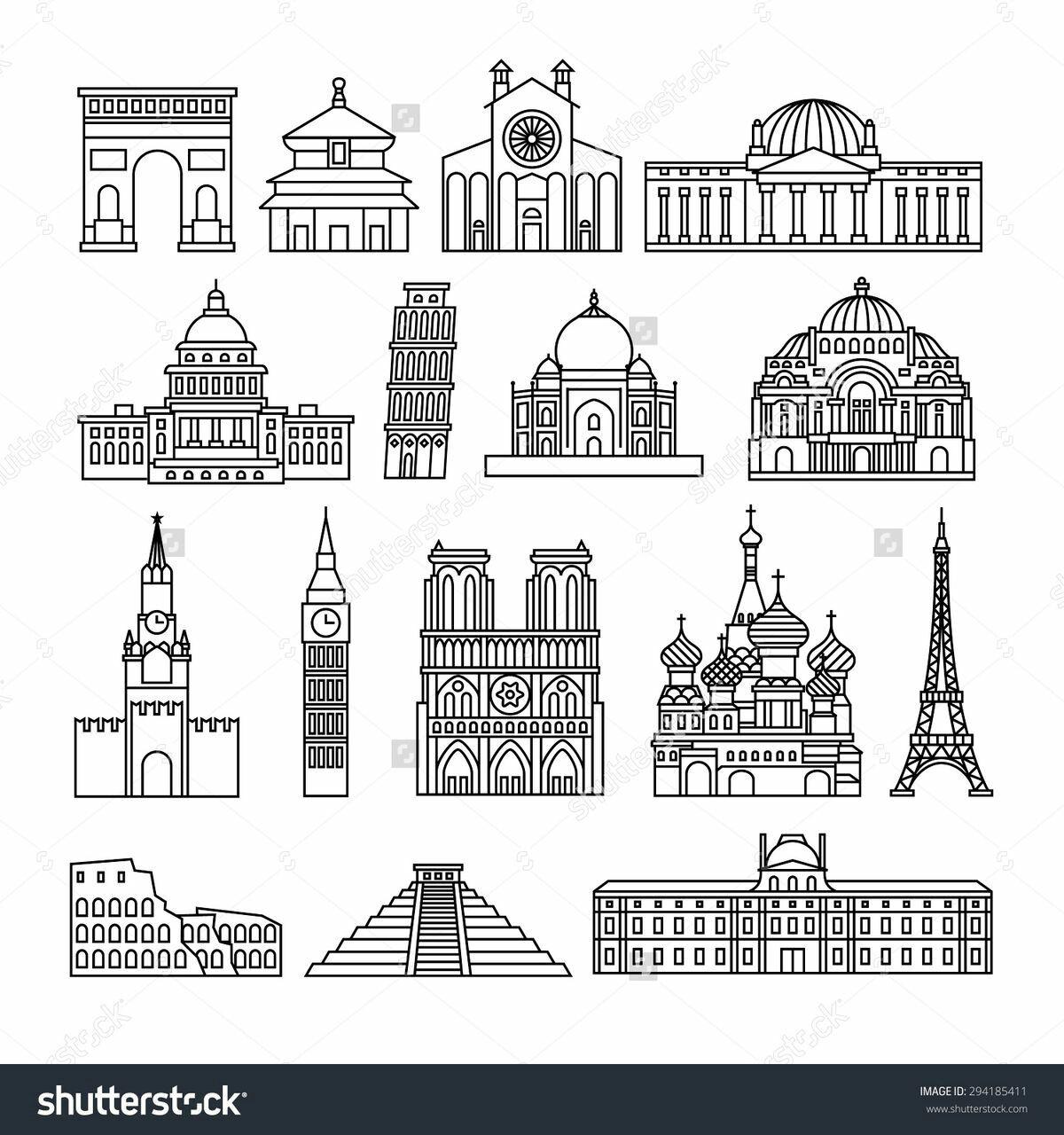 Épinglé par Ekhlas sur Art Paris dessin, Monuments