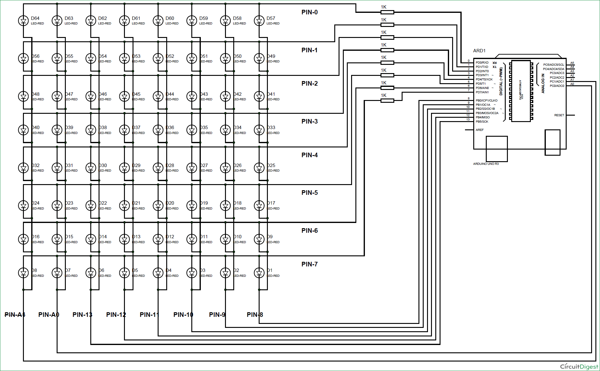 Arduino-8x8-LED-Matrix-Scrolling-Display-circuit-diagram | Arduino ...