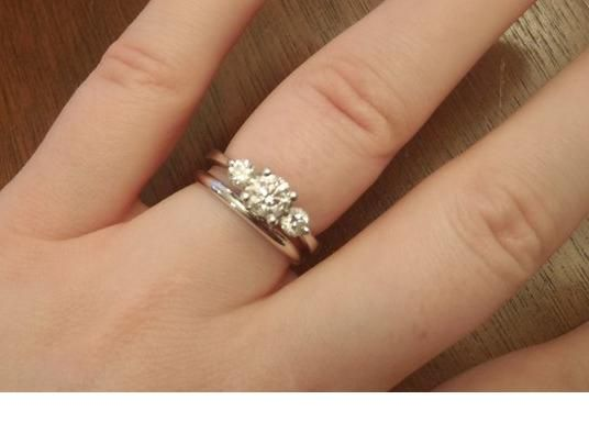 show me your 3 stone rings with carats of stones weddingbee page 2