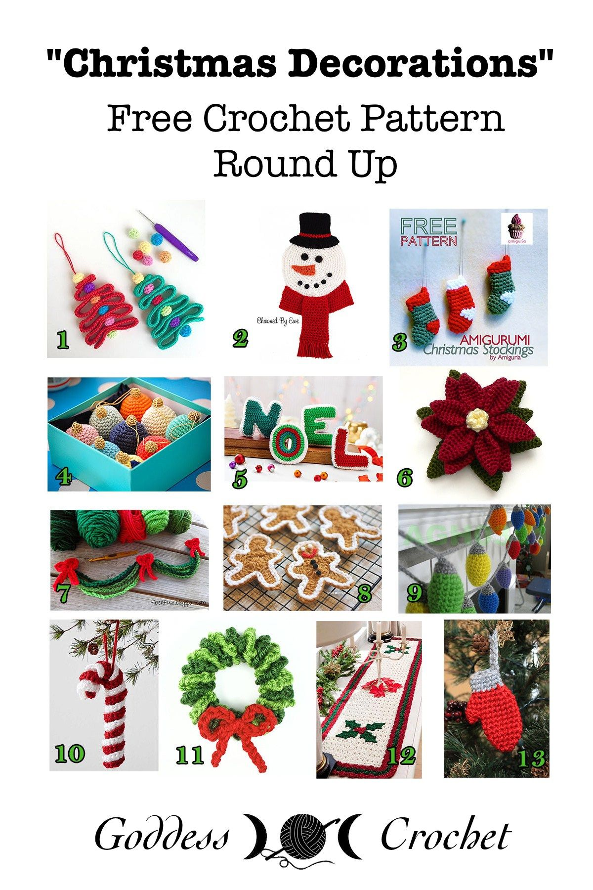 Christmas Decorations - Free Crochet Pattern Round Up | Crochet ...