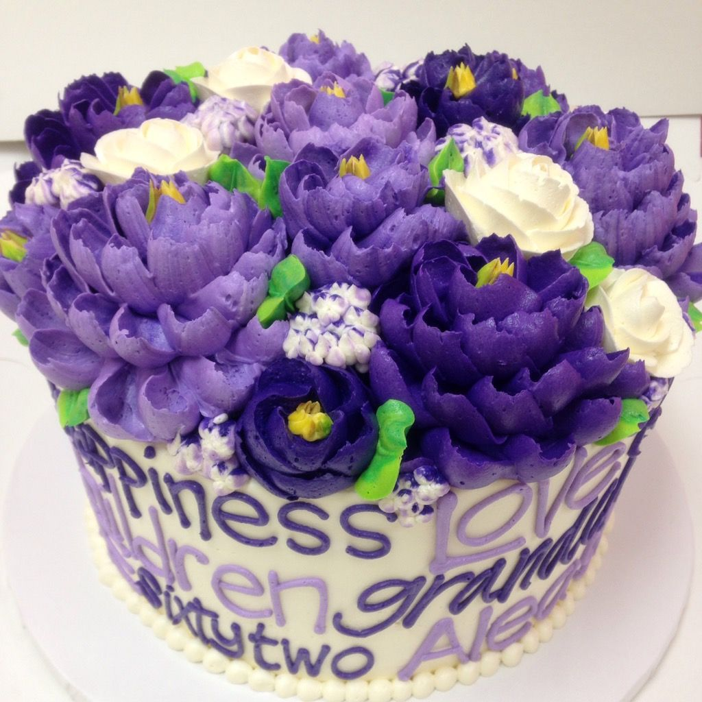 Words Cake Purple Cakes Pinterest Cake And Birthday Cakes