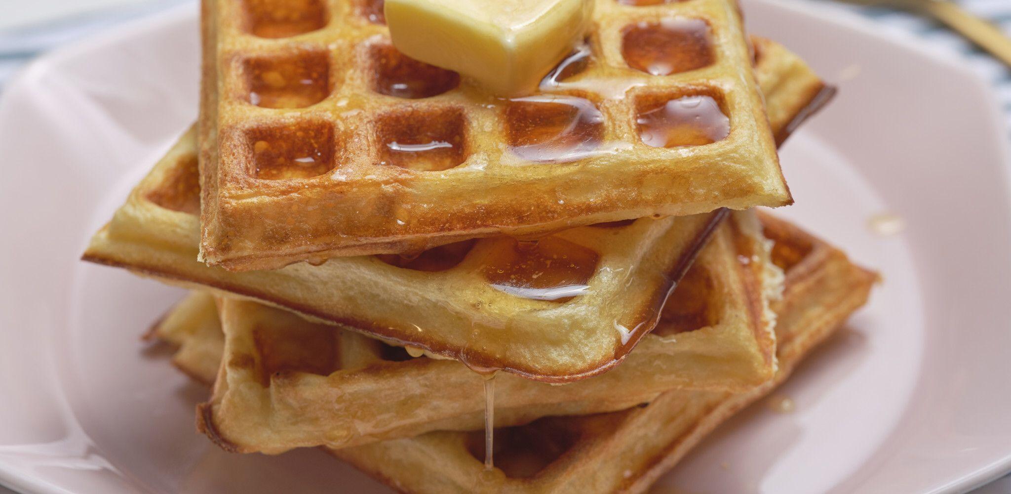 The Best Buttermilk Waffles Recipe In 2020 Buttermilk Waffles Tea Cakes Recipes Waffle Recipes