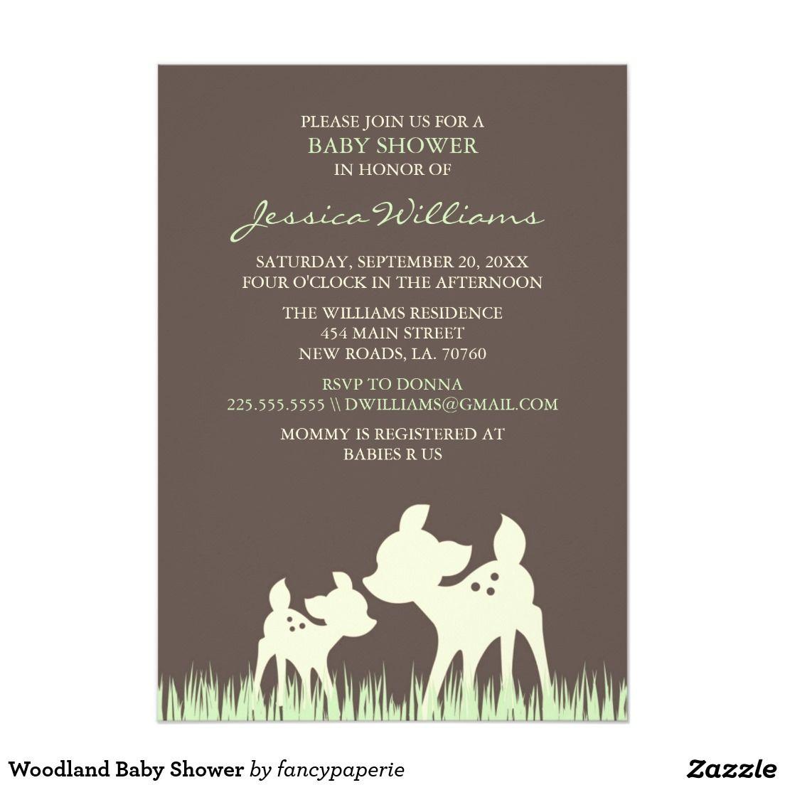 Woodland Baby Shower Card