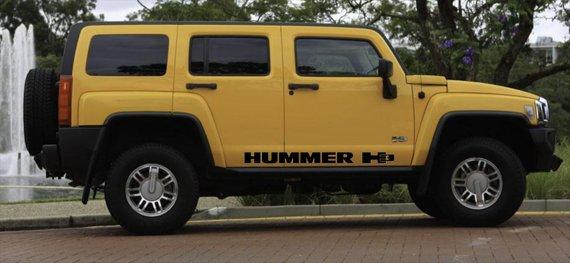 MATTE BLACK HUMMER H3  ROCKER  SIDE STRIPES VINYL DECALS SET