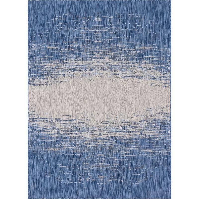 Minturn Abstract Blue Gray Indoor Outdoor Area Rug Unique Loom Area Rugs Rugs