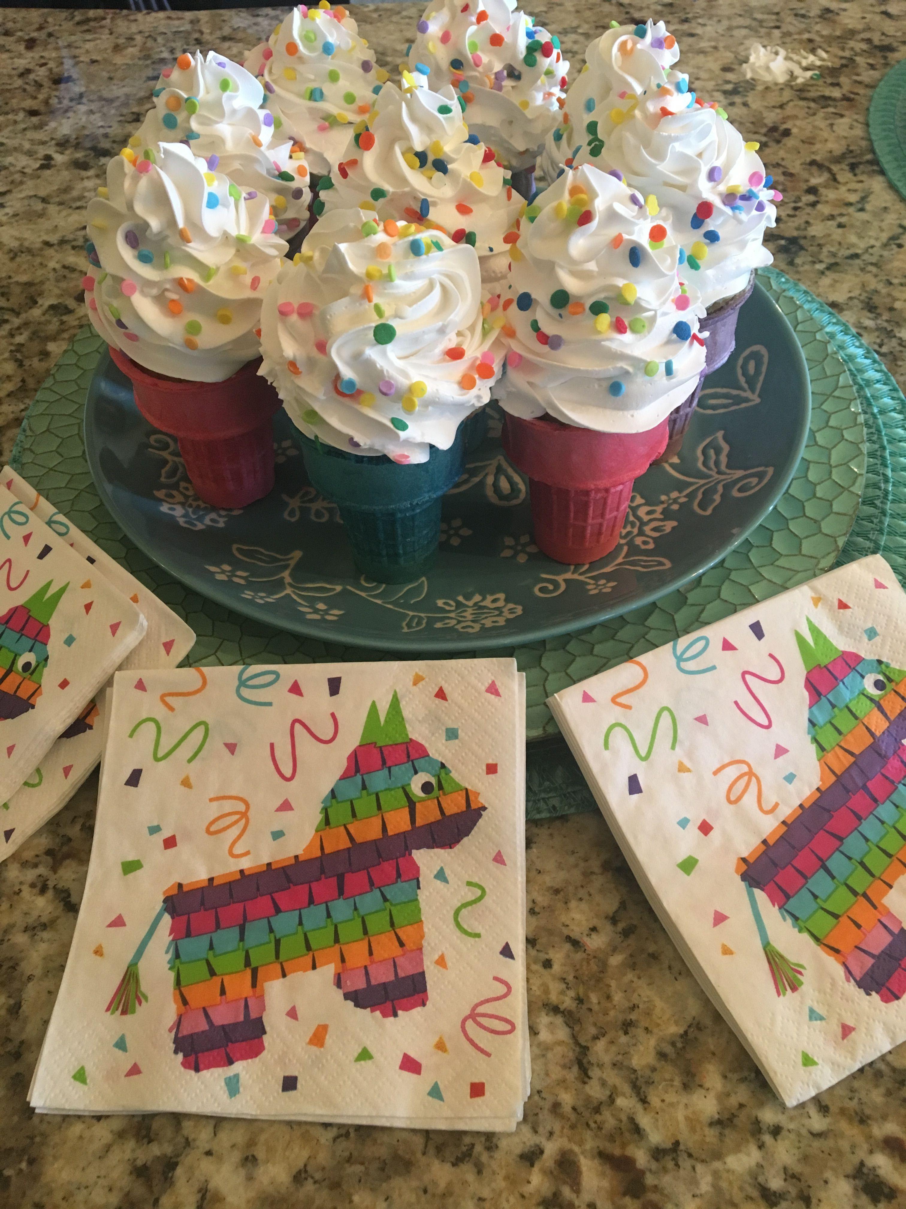 Colorful Cupcakes With Ice Cream Cone Birthday Cake Girls Cakes
