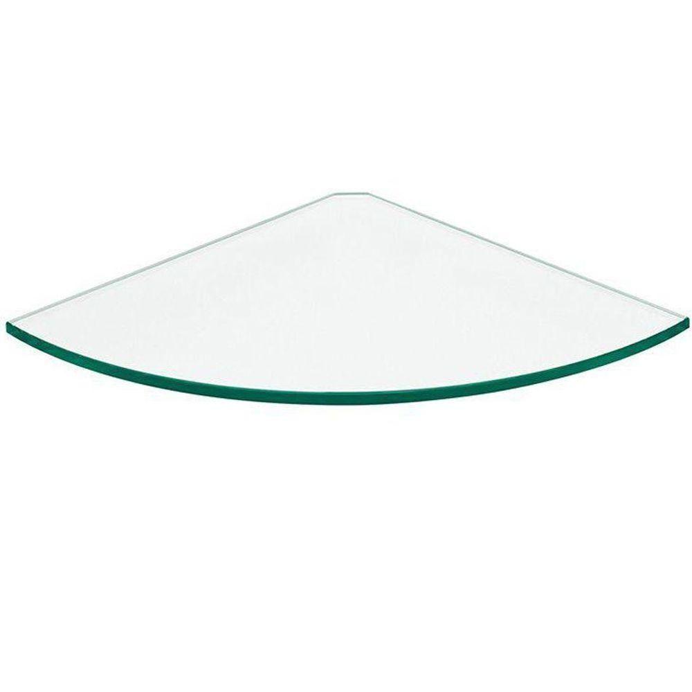 Dolle 12 In X 12 In X 5 16 In Glass Line Corner Shelf In Clear