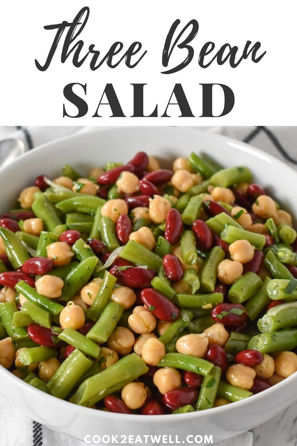 Three Bean Salad Recipe In 2020 Bean Salad Recipes Bean Salad Recipes Easy Green Bean Salad Recipes