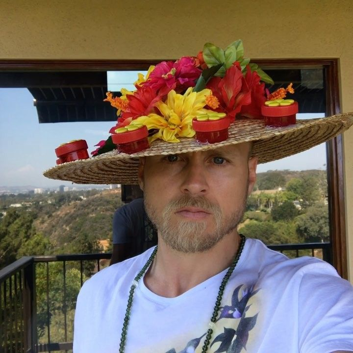 Spencer Prattu0027s Hummingbird Feeder Hat Is #OrnithologyGoals | Unleashed