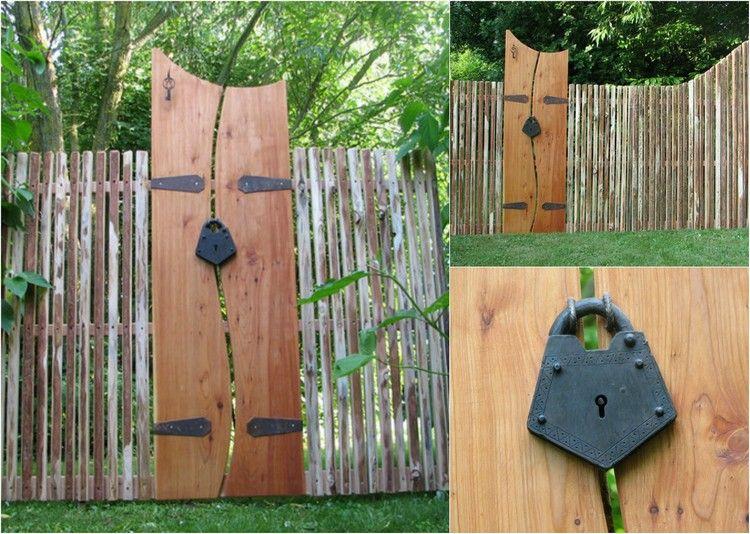aménagement-jardin-extérieur - porte et clôture décoratives en ...
