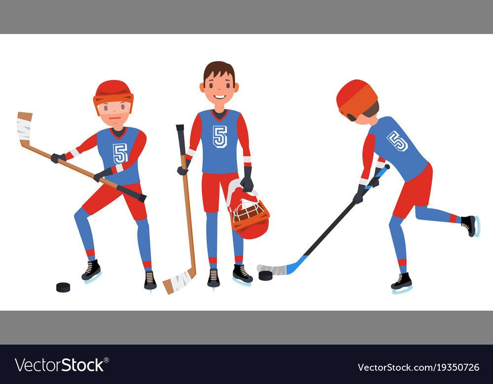 Classic Ice Hockey Player Set Competition Vector Image On Ice Hockey Players Ice Hockey Hockey Players