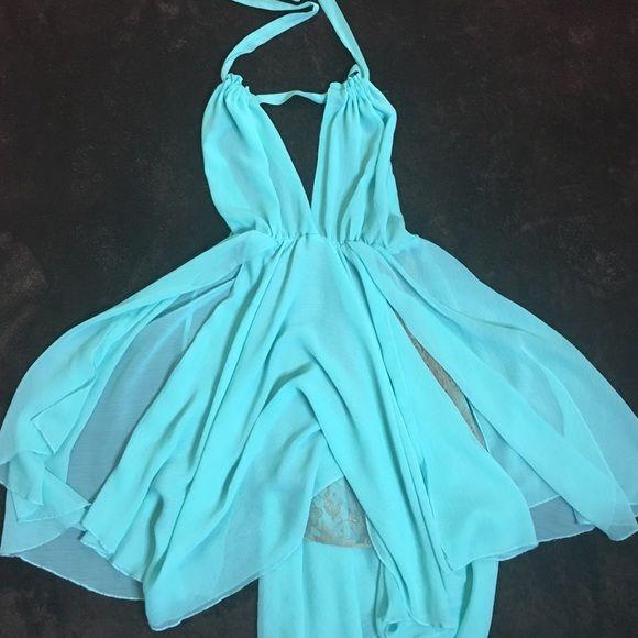 Forever 21 Dress - baby blue Light blue halter forever 21 dress Forever 21 Dresses Midi