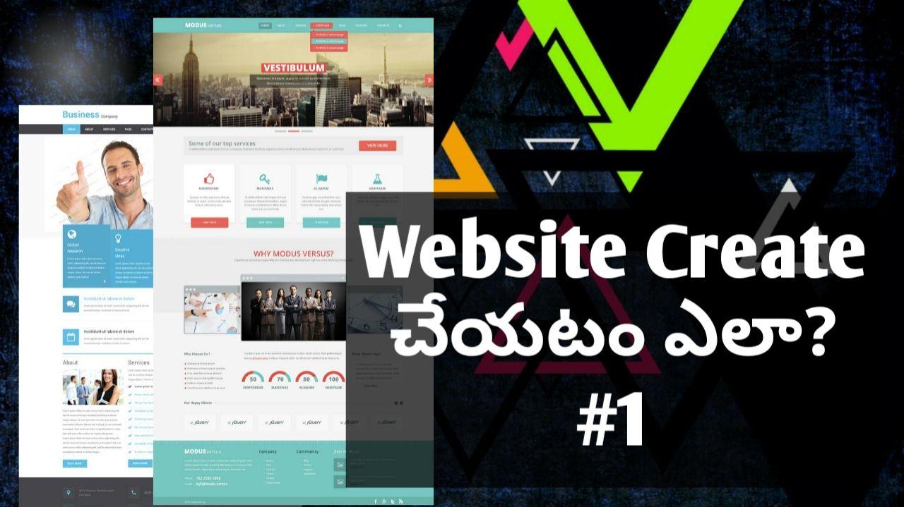 How To Purchase Domain Hosting Space In Telugu Create Website Domain Hosting Tutorial