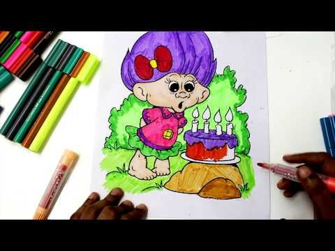 Coloring Pages Trolls : Coloring pages dreamworks trolls coloring book videos for children