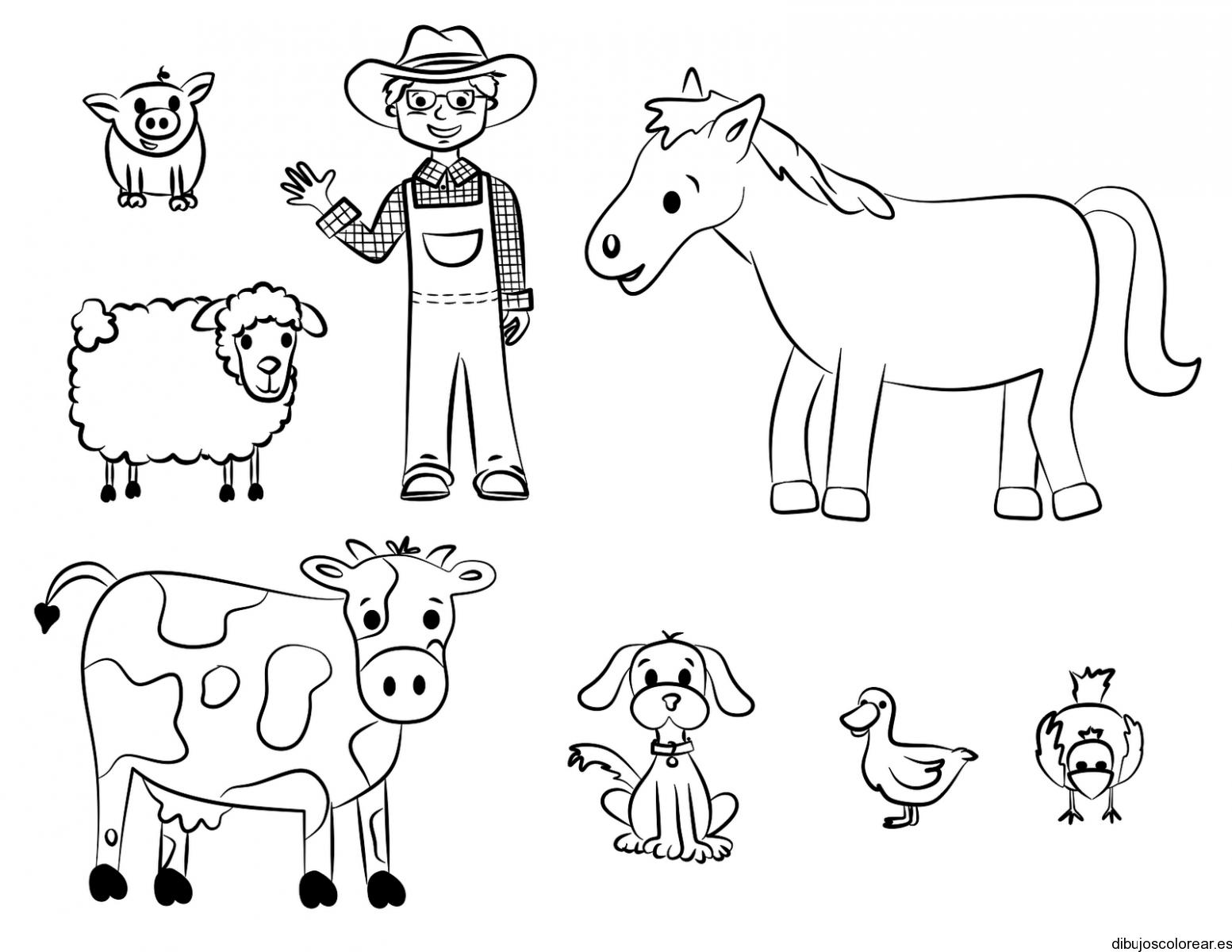 colorear granjero - Cerca amb Google | Projectes E.I | Pinterest ...