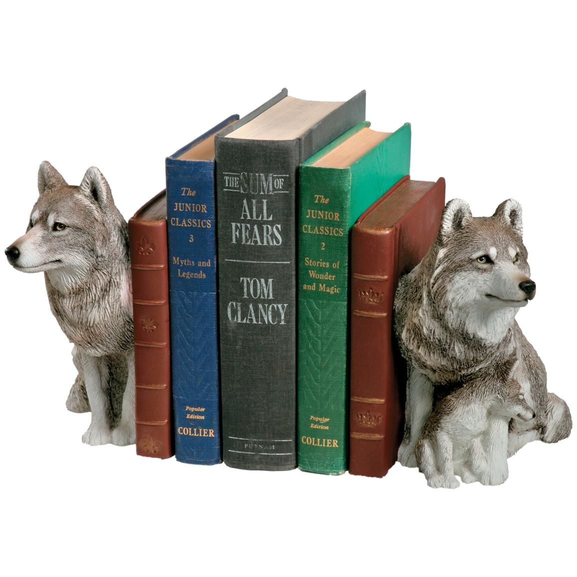 sandicast wolf bookends set i really want this bookshelves