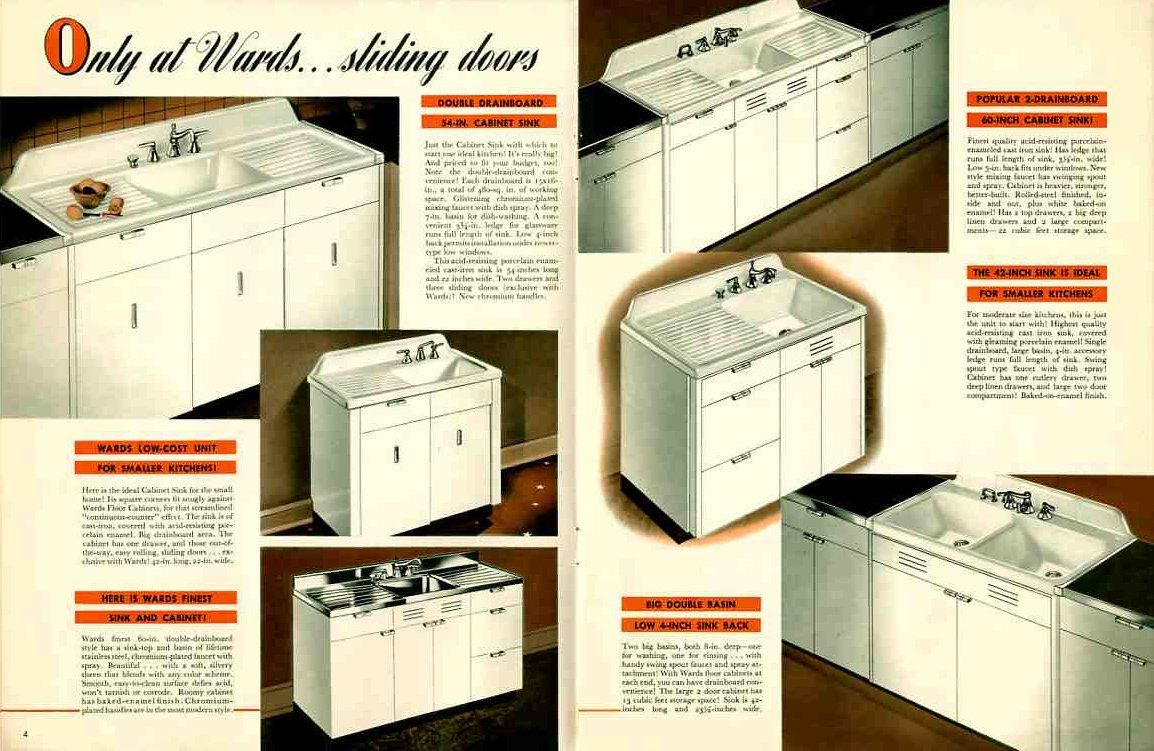Vintage 1941 Montgomery Ward Metal Kitchen Cabinets | Steel Kitchen Cabinets,  Montgomery Ward And Kitchens