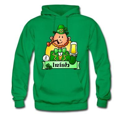 Chech out the Cardvibes St. Patrick's Day T-shirt shop for the US market.  #Ireland #Irish #StPatricksDay  Irish Paddy drinks a big glass of beer to celebrate St. Patrick's Day in Ireland.