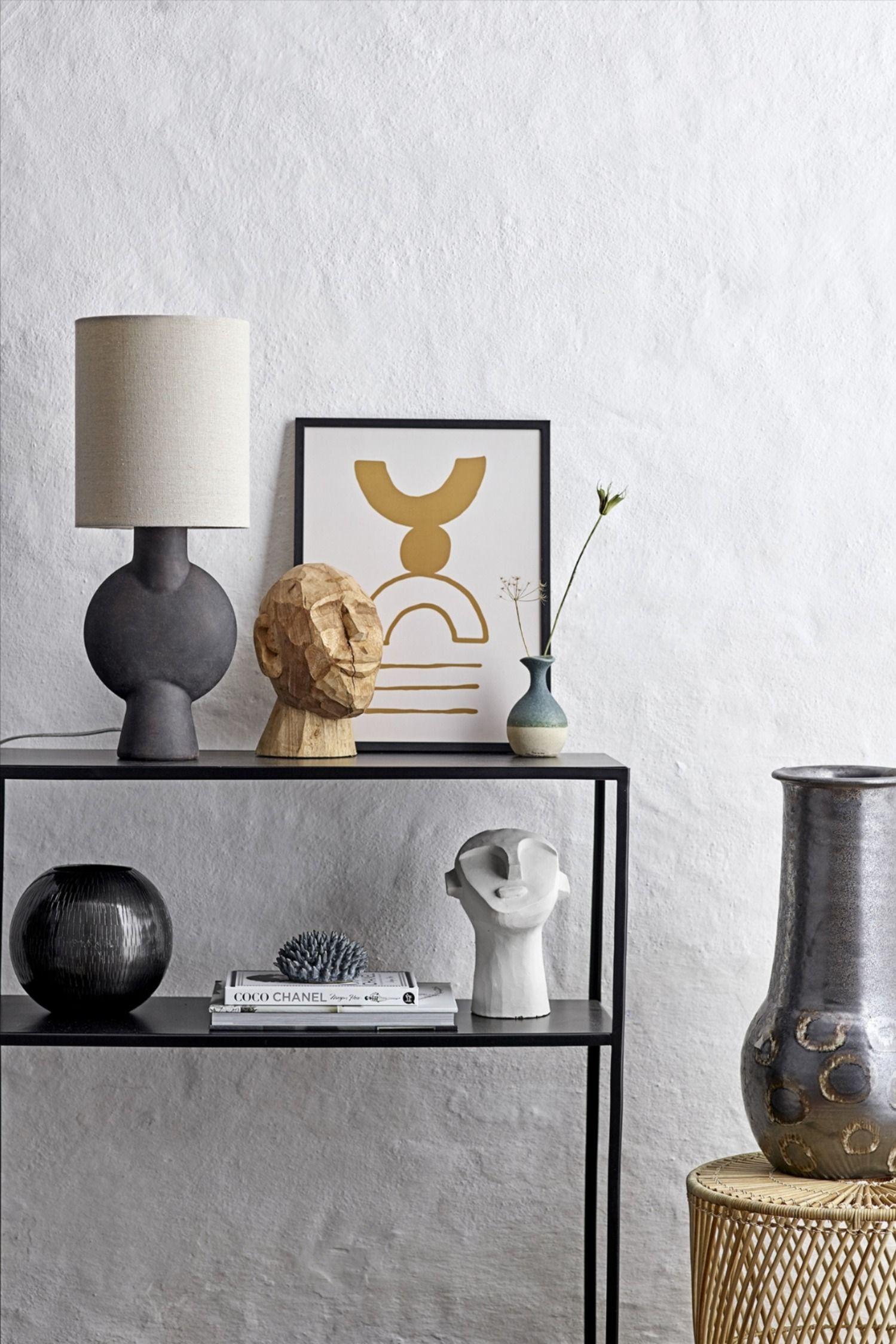 Kopf Skulptur Abstrakt Von Bloomingville Connox In 2020 Dekor Schwarze Tischlampen Haus Deko