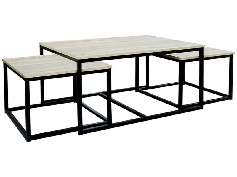 Set Tables Gigognes Triple Sonoma Vente De Table Basse Conforama In 2020