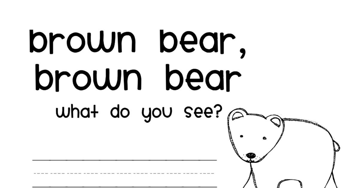 Brown Bear Color Book Pdf Preschool Projects Kindergarten Literacy Book Activities