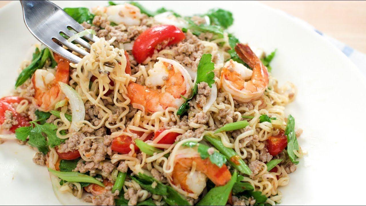 Thai instant noodle salad recipe yum mama hot thai thai instant noodle salad recipe yum mama hot thai kitchen forumfinder Choice Image