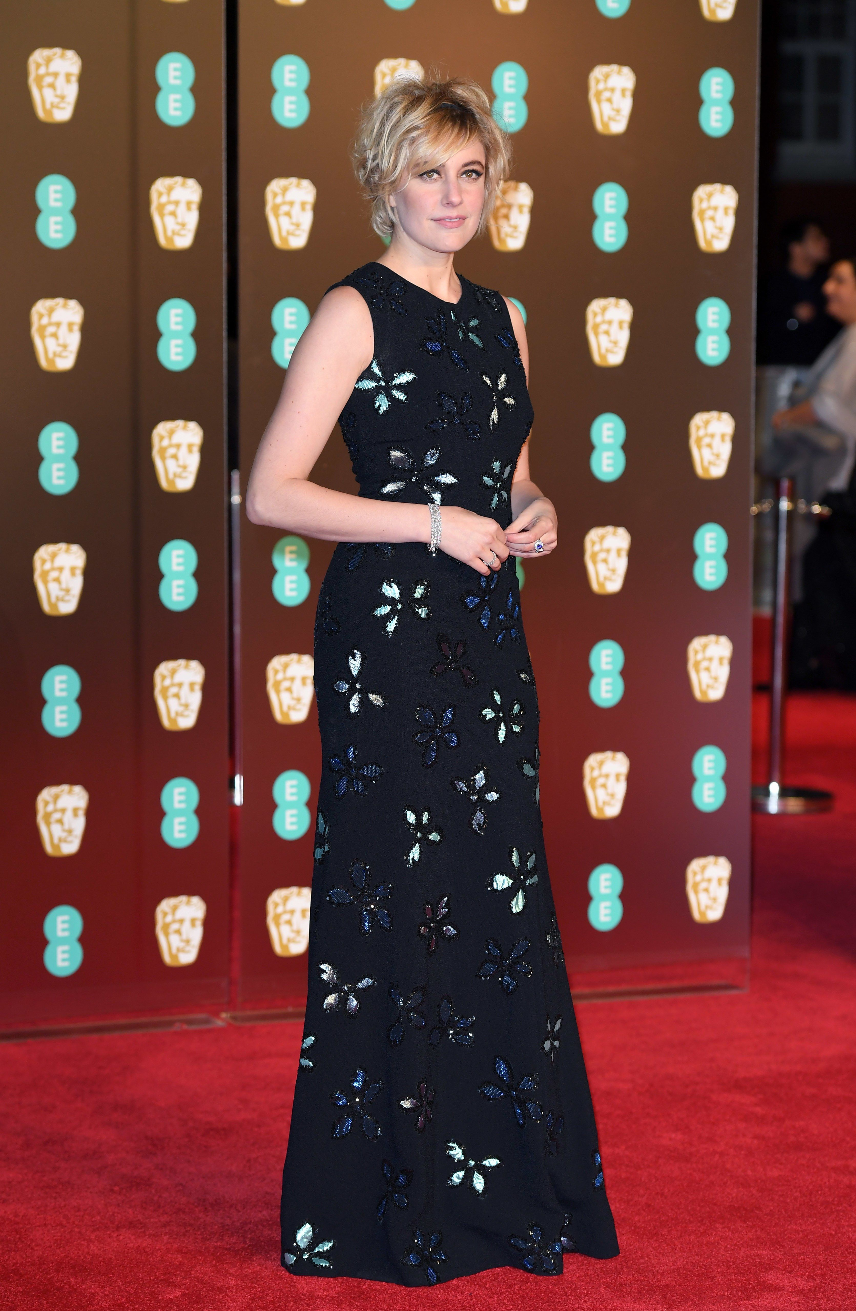 Bafta Red Carpet 2018 See Jennifer Lawrence Angelina Jolie And More Actresses In Black Dresses Bafta Red Carpet