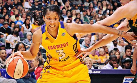 LOS ANGELES, CA - Los Angeles Sparks – Staples Center  WNBA Game on September 18 or 20 (Up to 54% Off). Two Lower-Level Seating Options Available.