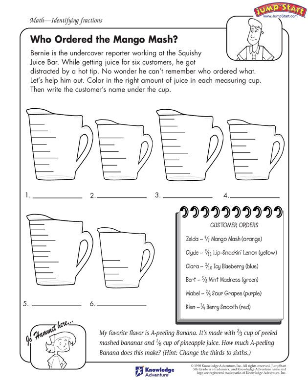 Worksheets Fun Math Worksheets For 5th Grade 1000 images about math on pinterest fractions worksheets and equivalent fractions