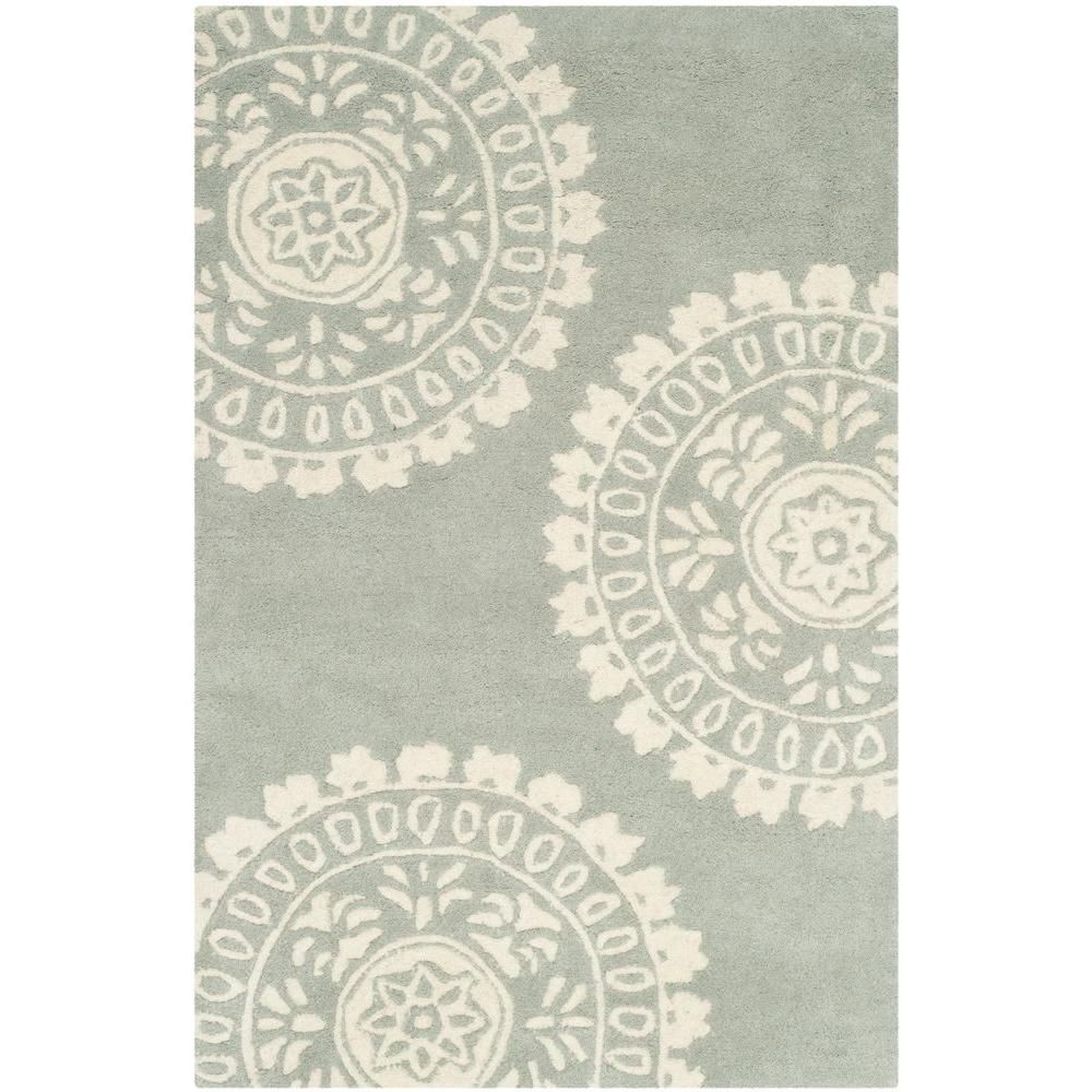 Bella Grey/Ivory 2 ft. 6 in. x 4 ft. Area Rug