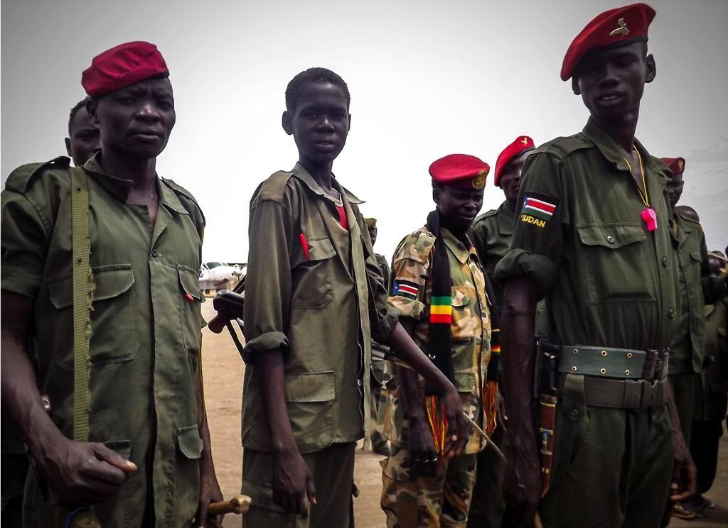 Kindersoldatrn in Zuid-Soedan