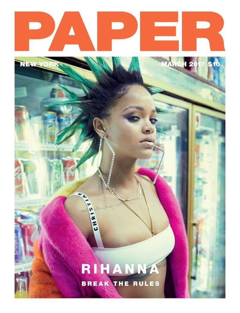 Pop star Rihanna lands the March 2017 cover of Paper Magazine. Photographed  by Sebastian Faena 8e98c283e0d
