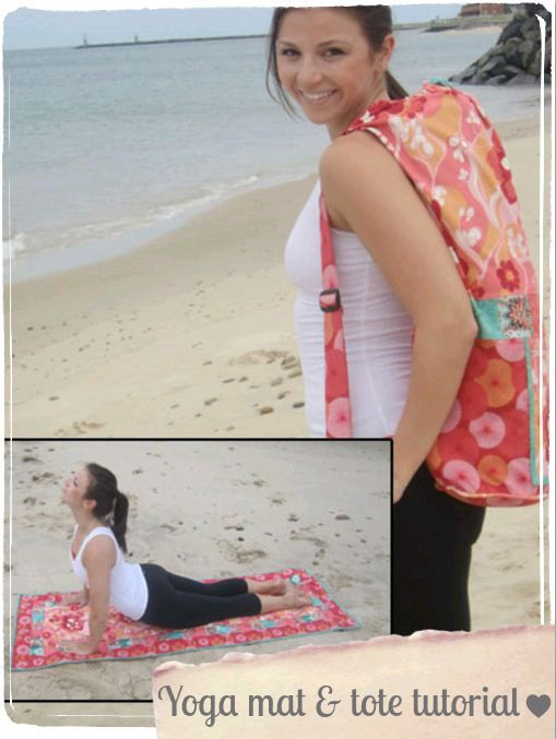 Patchwork yoga mat & tote :) #sew | Sewing Inspiration | Pinterest ...