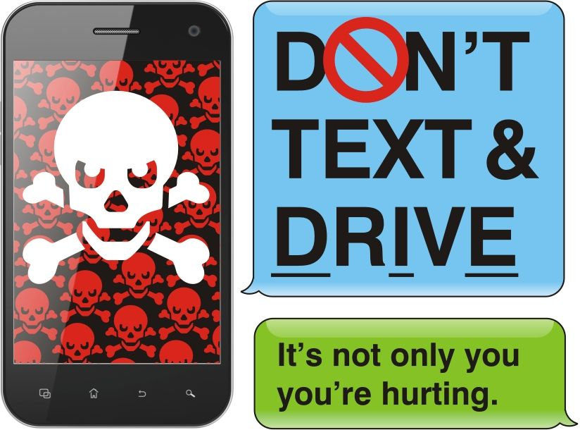 Don't Text and Drive Promote Safety Pinterest Safety