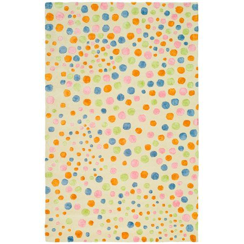 Soho Ivory and Multi Rectangle: 7 Ft. 6 In. x 9 Ft. 6 In. Area Rug - (In Rectangular)