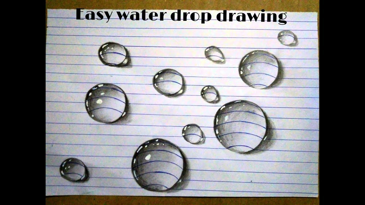 3d Real Water Drop Drawing Simple Technique Pencil Sketch Youtube Water Drop Drawing Pencil Sketches Of Faces Drawings