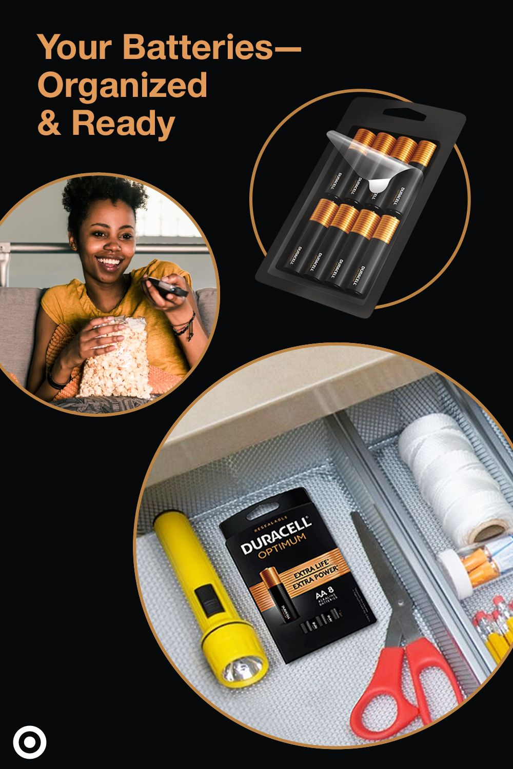 Shop Duracell Optimum Batteries Packaged In A Resealable Storage Tray Delivers Extra Life In Some Devices Duracell Cute Car Accessories Emergency Preparation